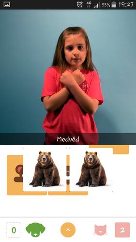 Aplikace Znakujte s námi - Pexeso